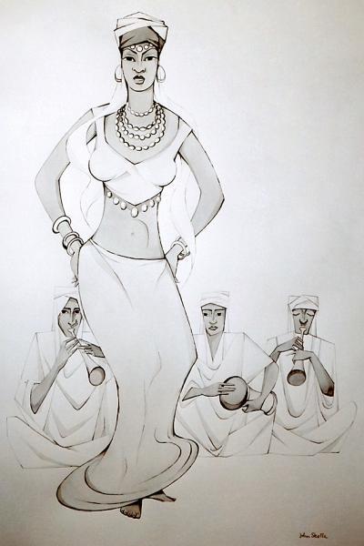 oeuvre d'art John Skolle Afrique
